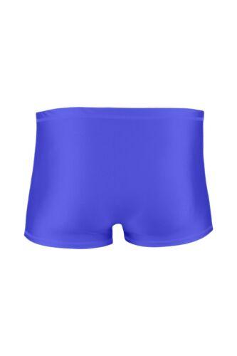 Herren Boxer-Slip Royalblau elastisch hauteng stretch shiny glänzend Unterhose