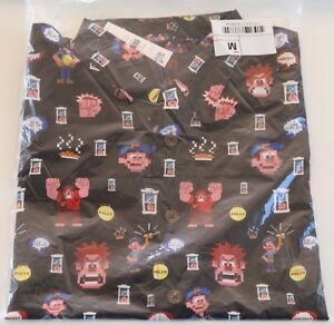 Disney-Reyn-Spooner-Wreck-It-Ralph-Lasseter-Hawaiian-Aloha-Shirt-Mens-Medium-NWT