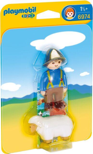 6974 playmobil 1 2 3 * Schäfer mit Schaf * für Kinder ab 1½ Jahren / 18 Monate