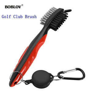 Golf-Brush-Accessories-Tools-2-Sided-Bristle-Clean-For-Groove-Shoes-Cleaning