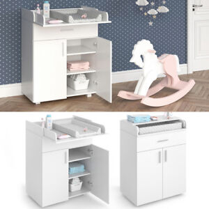 Table-a-langer-Commode-a-langer-Etagere-a-langer-Commode-Meuble-pour-bebe-blanc