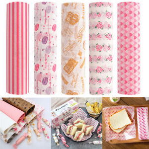 50x-Food-Wrapping-Wax-Paper-Oilpaper-Greaseproof-Baking-Sandwich-Packing-Papers