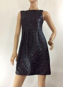 CUE-SIZE-8-BLACK-TEXTURED-DRESS