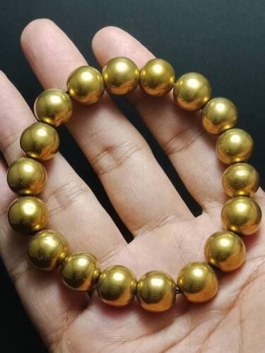 SUPER RARE LEKLAI GOLD BEAD BRACELET LP SOMPORN MAGIC PROTECT WEALTH THAI AMULET