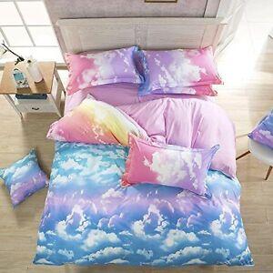 4 Pc Pastel Rainbow Sky Clouds S Twin