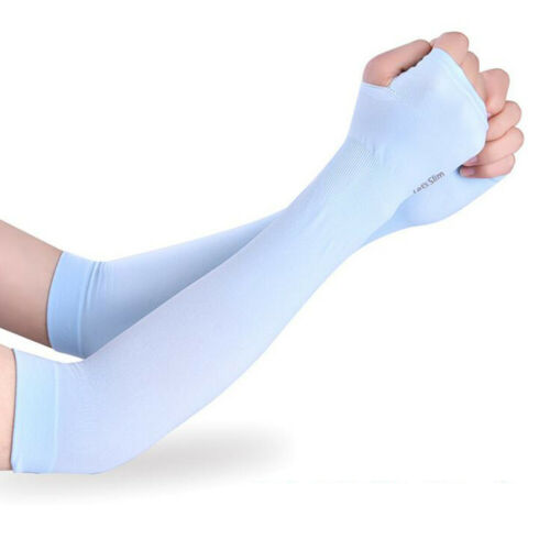 Fashion Ice Fabric UV Protection Running Arm Sleeves Cycling Outdoor Arm Warmers