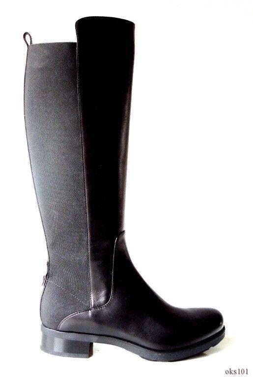 grandi offerte New New New  965 MONCLER 'Julie' nero leather stetch TALL RIDING stivali scarpe 36 6  designer online