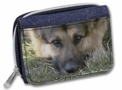AD-G43lymJW German Shepherd /'Love You Mum/' Girls//Ladies Denim Purse Wallet Chri