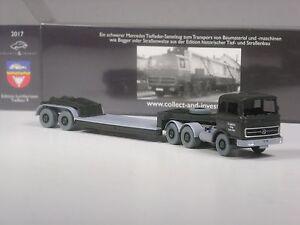 Wiking-C-amp-I-Sondermodell-Mercedes-2223-Tieflader-Lambertsen-Nr-9