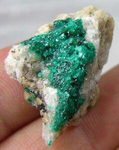 #7 Kazakhstan 100% Natural Dioptase Crystal Matrix Specimen 28.20Ct or 5.60g