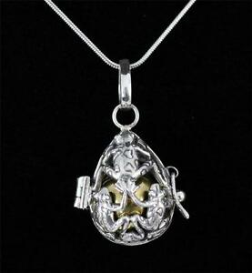 Unusual solid 925 sterling silver harmony ball pendant necklace 18 image is loading unusual solid 925 sterling silver harmony ball pendant aloadofball Gallery