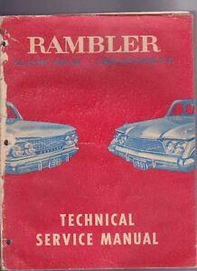 1961 rambler classic 6 v8 ambassador american motors factory rh ebay com au 1961 Rambler Classic Nash Rambler
