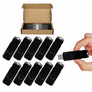 10-Pack-4GB-USB-Sticks-2-0-Speicherstick-Schwenkbarer-USB-Flash-Laufwerk-Schwarz