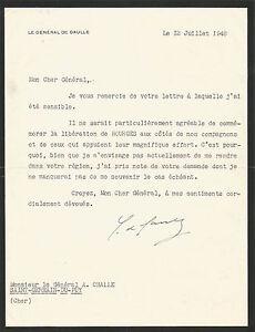 Charles-DE-GAULLE-Lettre-signee-au-General-Challe-Liberation-de-Bourges-1948