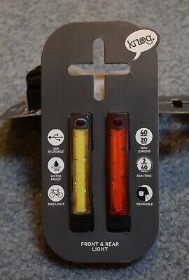 Black Knog PLUS light set front/&rear light