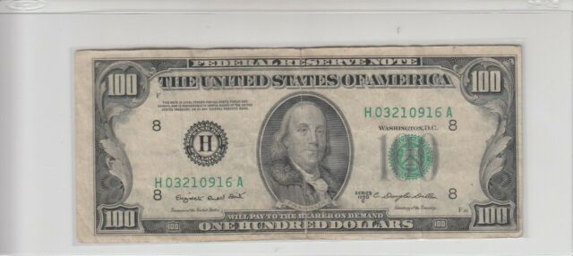 1950C (H) $100 One Hundred Dollar Bill Federal Reserve Note St. Louis Miscut