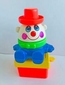 1980s-Vintage-Playskool-Pop-Up-Clown-Puzzle-Stacker-Humpty-Dumpty-Works