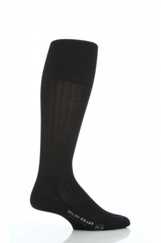 Mens 1 Pair Falke Milano 100/% Cotton Knee High Socks