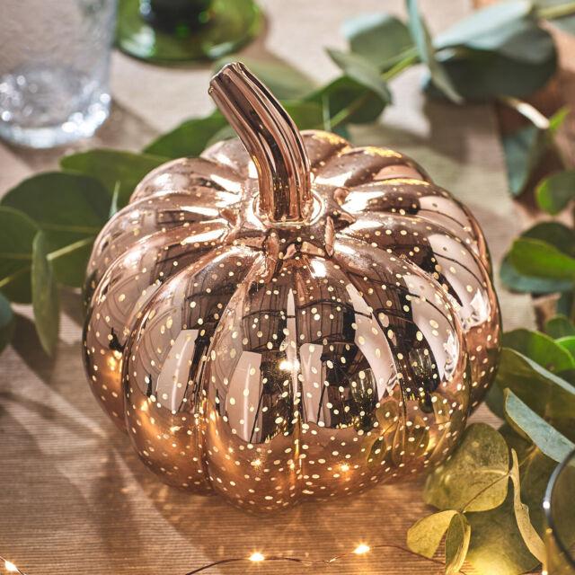 Halloween Deko Kaufen.Lights4fun Led Kurbis Rotgold Halloween Deko Timer Gunstig Kaufen Ebay