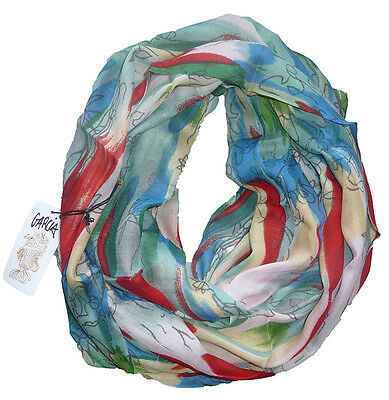 GRATEFUL DEAD Guitarist JERRY GARCIA Banyan Tree ARTWORK Printed Scarf in RED