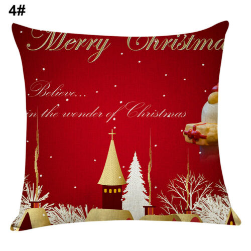 Christmas Santa//Elk//Gift Box Throw Pillow Case Cushion Cover Sofa Bed Decor HEA