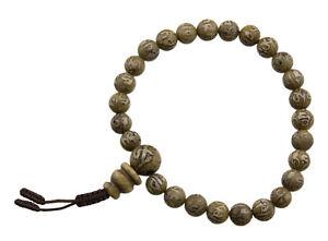 Braccialetto Mala Tibetano Rosario Perle IN Madreperla Da Ø8.5mm Tibet 25697