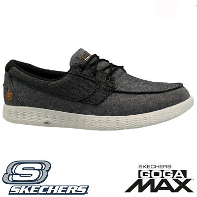 A bordo traductor Descanso  MENS SKECHERS GO GOGA MAX 5 GEN LIGHTWEIGHT FITNESS WALKING BOAT SHOES  TRAINERS | eBay