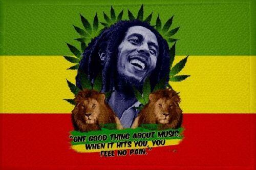 Ricamate Canapa Bob Marley Reggae bandiera bandiera aufbügler Patch 9 x 6 cm