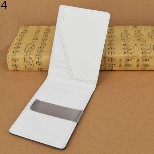 AC/_ Men/'s Faux Leather Money Clip Slim Wallet ID Credit Card Holder Purse Proper