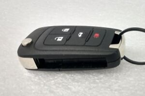 GM 2010+ OEM keyless entry flip key fob. Door lock, unlock hatch 4 button (4B)