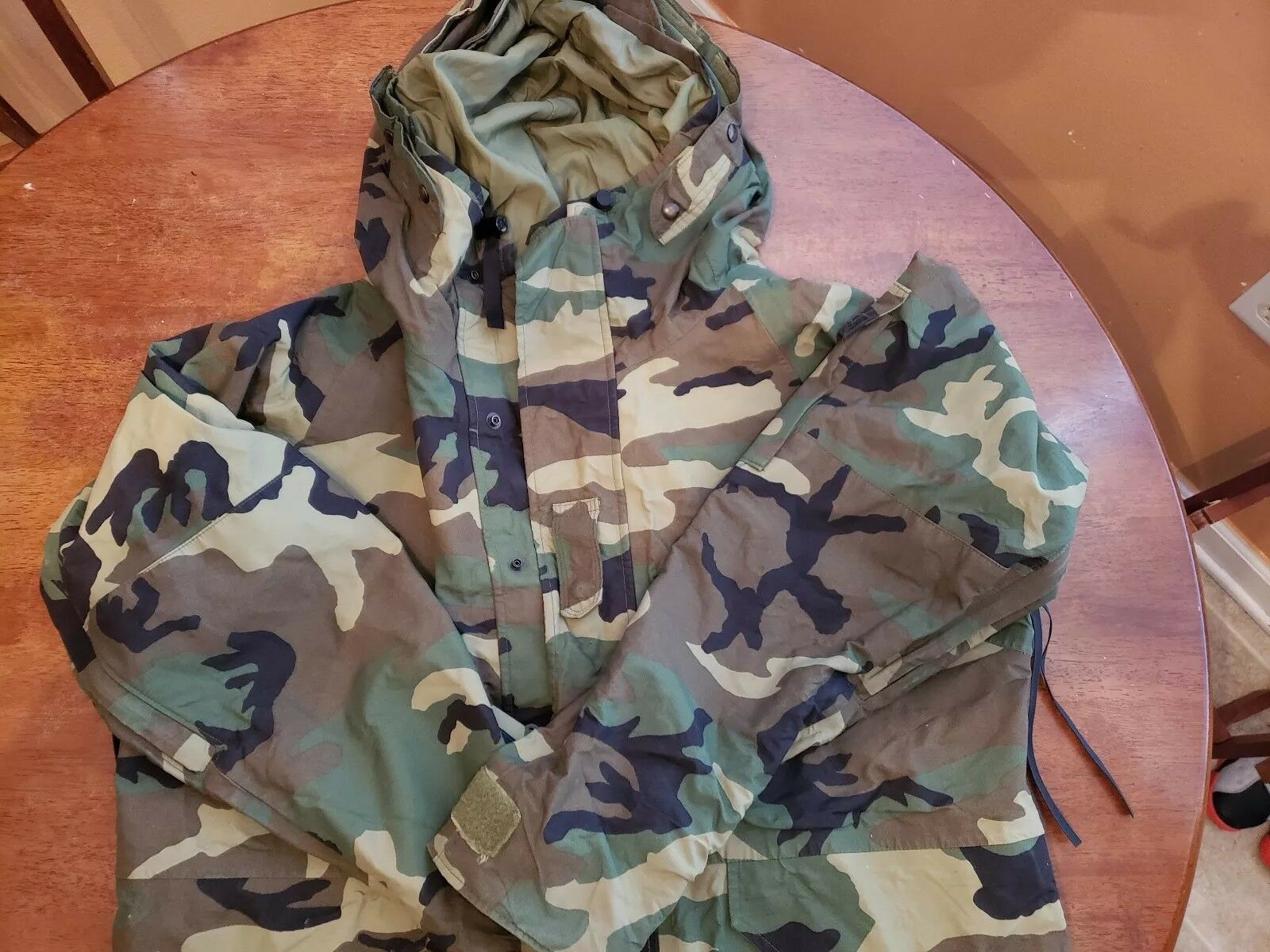 Us Milirary Cold Weather Camouflage Parka Size Medium