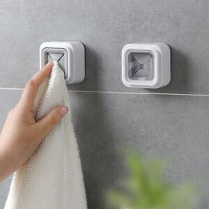 Home-Portable-Wall-Mount-Twoel-Storage-Wash-Cloth-Clip-Organizer-Towel-HolderSZS