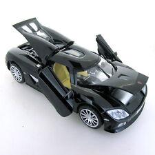 Black 1:32 Scale Koenigsegg CCR Sports Car Diecast model Sound & Light 4-Doors