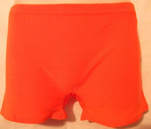 Girls kids Metallic Neon Stretch Hot Pants Shorts Lycra Dance Tutu  HARLEY QUINN