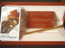 S.T. DUPONT CLASSIQUE PENNA SFERA DORATA + GARAN +SCATOLA '90 Ball Pen +Box +Gar