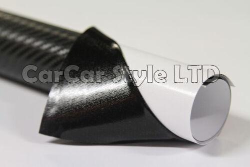 【AIR//BUBBLE Free ALL SIZE】BLACK COLOUR【Carbon Fibre Vinyl】Wrap 3D Textured 4 CAR
