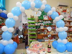 Arco per bouffet link palloncini colori vari a scelta addobbi comunione cresima ebay - Composizione palloncini da tavolo ...