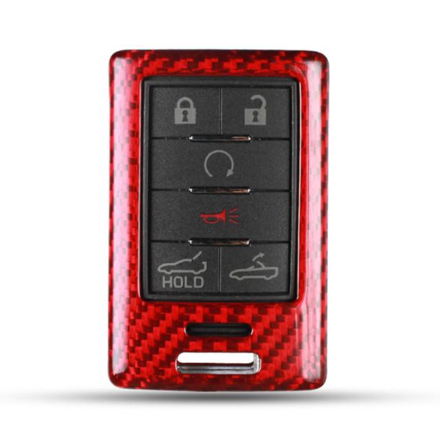 Car Key Fob Cover Carbon Fiber For CADILLAC CTS ATS V SNAP