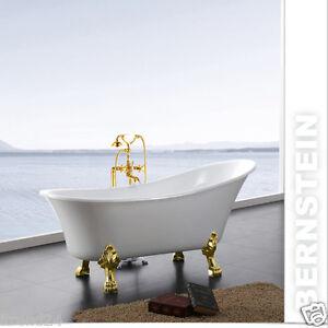 Vasca da bagno freestanding paris rubinetti piedi a scelta scarico troppo pieno ebay - Vasca da bagno con i piedi ...