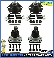 Chevy Blazer S10 GMC S15 Jimmy 4WD 4 Pc Kit Front Upper & Lower Ball Joints