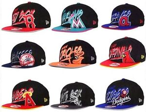 New-Era-MLB-Authentic-9FIFTY-950-Snapback-Neon-Scribbs-Baseball-Fit-Hat-Cap