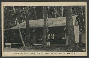 East-Berne-NY-c-1910s-Postcard-TOMPKIN-039-S-BUNGALOW-WARNER-039-S-LAKE-Helderbergs