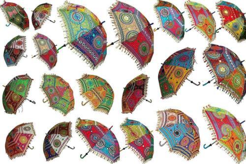 Wholesale Lot of 40 PC Indian Designer Traditional Handmade Sun Umbrella Parasol