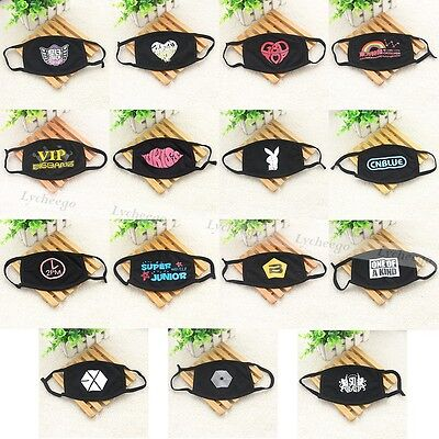 KPOP EXO 2NE1 BIGBANG 2PM CNBLUE BEAST SUPER JUNIOR TVXQ Face Mouth Mask Muffle