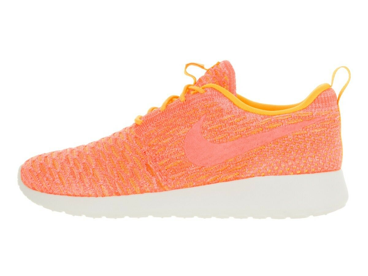 Nike Donne Flyknit   Nuove Roshe Un Autentico Arancione / Mango / Vela 704927-802
