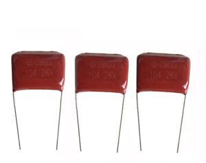 10PCS-Metallized-Film-Capacitors-CBB22-104J-2kV-2000V-0-1uF-0-1mfd-P-27mm