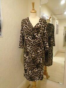 Pomodoro Leopard Print Velvet Dress 11854