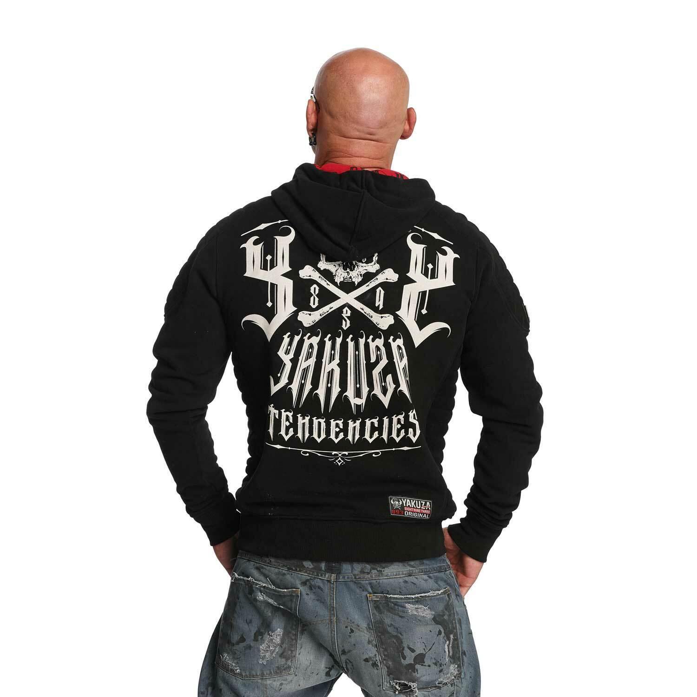 YAKUZA - Herren Hoodie HOB 11001  Destructive Tendencies  schwarz (schwarz)