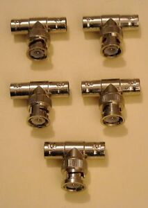 5 x T COAXIAL BNC 50 OHMS MALE VERS 2 SORTIES FEMELLES P4TOpW7C-07161520-521139172