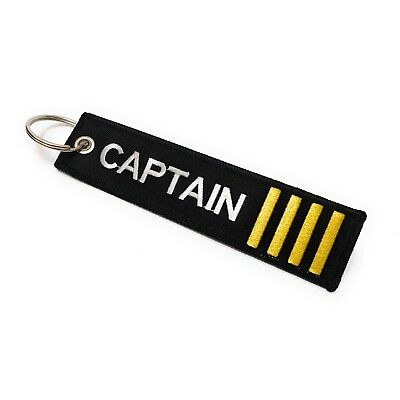 131ae773d4cf Captain Embroidered Luggage Tag - Flight Bag Tag - 4 Gold Stripes -  aviamart® 645360002631 | eBay